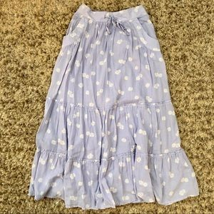 Old Navy floral maxi skirt